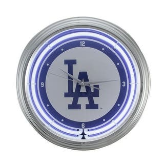 MLB Los Angeles Dodgers 15 inch Neon Wall or Tabletop Clock - White|https://ak1.ostkcdn.com/images/products/is/images/direct/64dc70ee6141b230e3118492381172ac5decd63e/MLB-Los-Angeles-Dodgers-15-inch-Neon-Wall-or-Tabletop-Clock.jpg?impolicy=medium