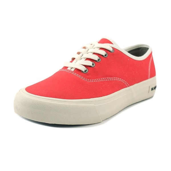 Seavees Legend Women Round Toe Canvas Red Sneakers
