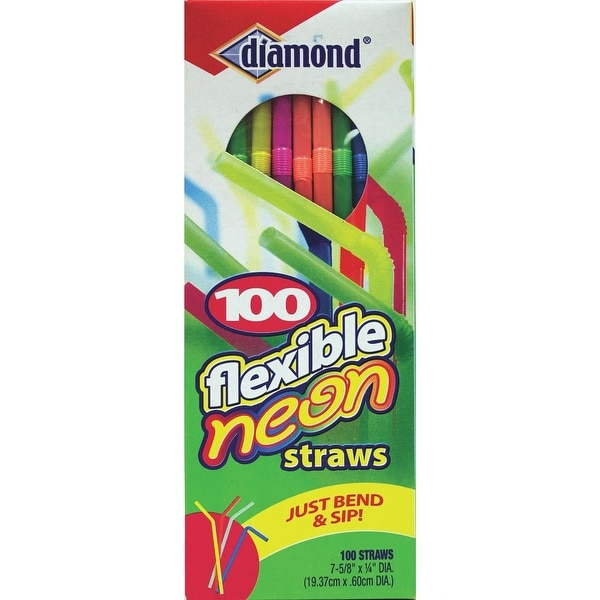 Diamond Flexible Neon Straw
