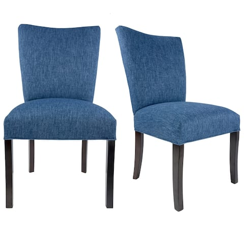 JULIA Collection KEY-LARGO Upholstered Dining Chairs (Set of 2) - 21 inches w. x 24.5 inches d. x 39 inches h