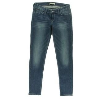 Levi's Womens Juniors Skinny Jeans Whisker Wash Demi Curve