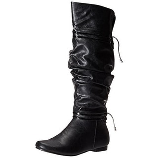 Kenneth Cole Reaction Girls No Slouch Faux Leather Knee-High Boots