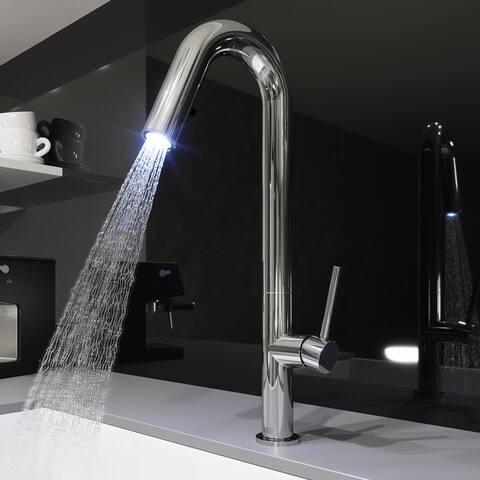 Vigo Oakhurst LED Light Pull-down Kitchen Faucet