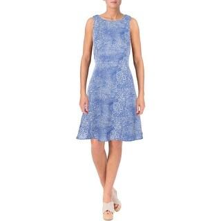Aqua Womens Juniors Crepe Lined Casual Dress