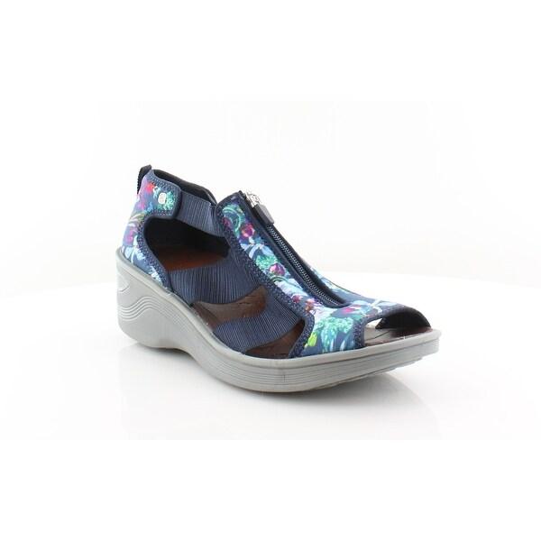 Bzees Duet Women's Sandals & Flip Flops Navy - 9.5