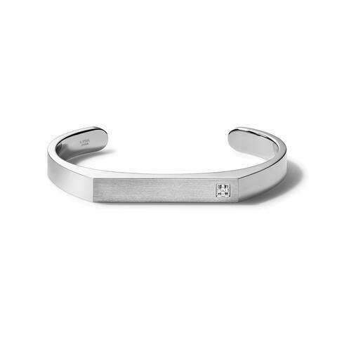 Bulova Mens Classic Cuff - J96B013L - Silver