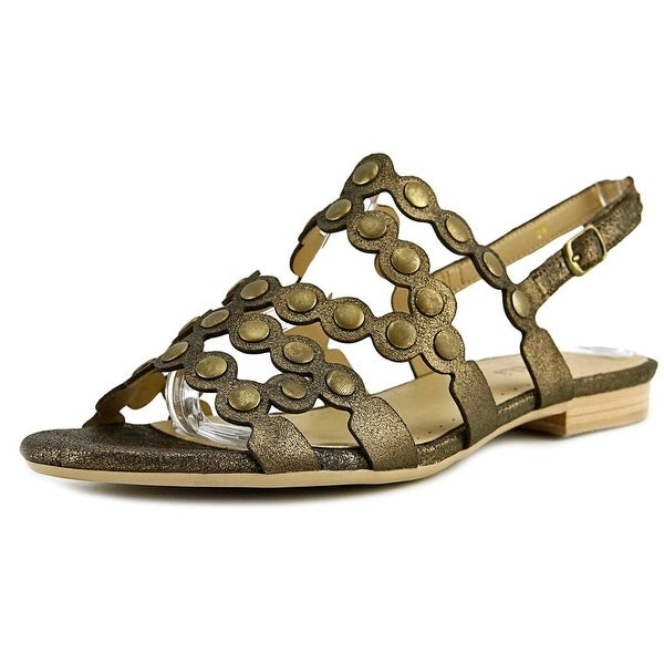Vaneli Elzira Women Open-Toe Leather Bronze Slingback Sandal