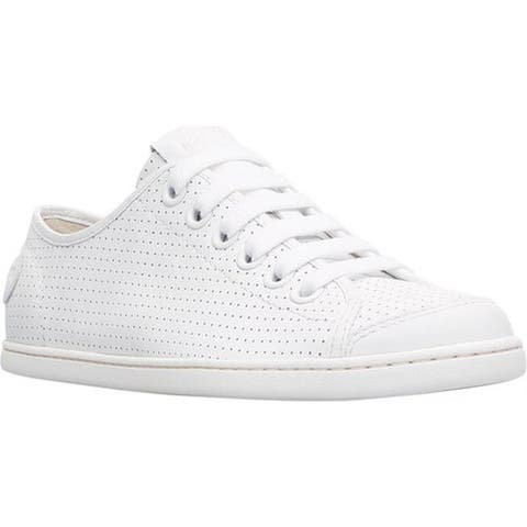 Camper Women's Uno Sneaker White Perforated Leather