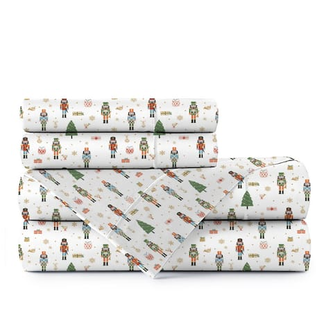 Portland Place Cotton Percale Printed Easy Fit Sheet Set