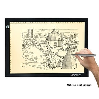 LED Artcraft Tracing Light Pad A4 Size Light Box w/ Memory Function USB Powered 4500k Neutral White