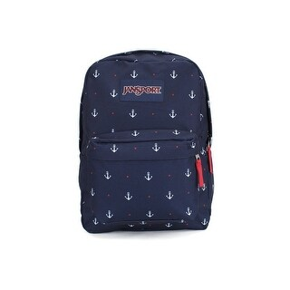 JanSport Mens Classic Mainstream Superbreak Backpack - Red Tape/Land Ahoy - red tape/land ahoy