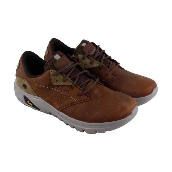 Hi-Tec V Lite Walk Lite Witton Mens Tan Leather Casual Dress Oxfords Shoes