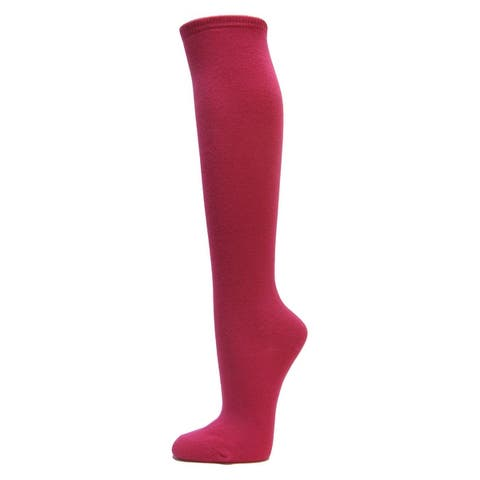 Women Cotton Solid Knee High Socks Costume Thigh Stocking Socks 1 Pair