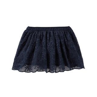 OshKosh B'gosh Baby Girls' Navy Lace Skirt - 9 Months