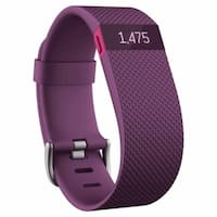 Fitbit Charge HR Wireless Activity Wristband (Plum / Large)
