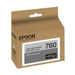 Epson T760920 Ultrachrome Hd Light Light Black Standard Capacity Cartridge Ink