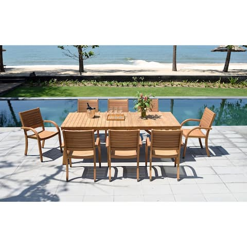 Life Style Garden 9-piece Teak Patio Dining Set