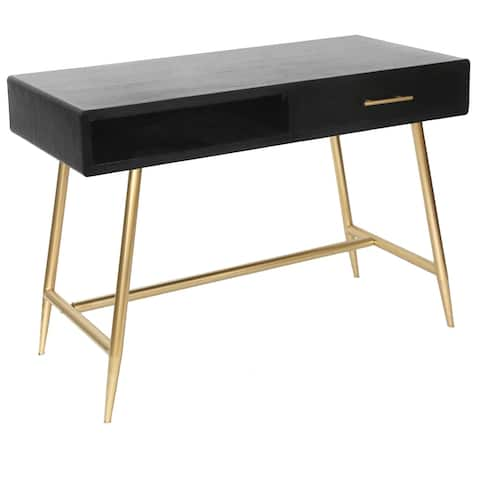 Silas Black and Gold Desk