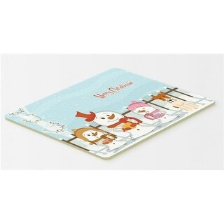 Carolines Treasures BB2432CMT Merry Christmas Carolers Wire Fox Terrier Kitchen or Bath Mat 20 x 30