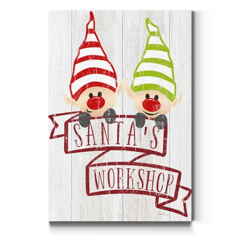 Santa's Workshop-Premium Gallery Wrapped Canvas - Ready to Hang