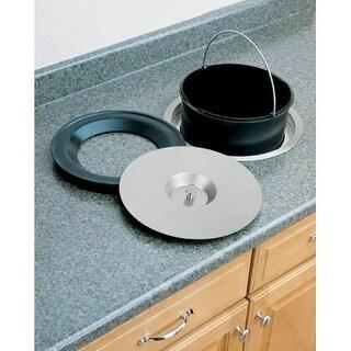 Rev-A-Shelf 8-060-11 8-060 Series Counter Mount Single Bin Trash Can - 11.5 Quart Capacity