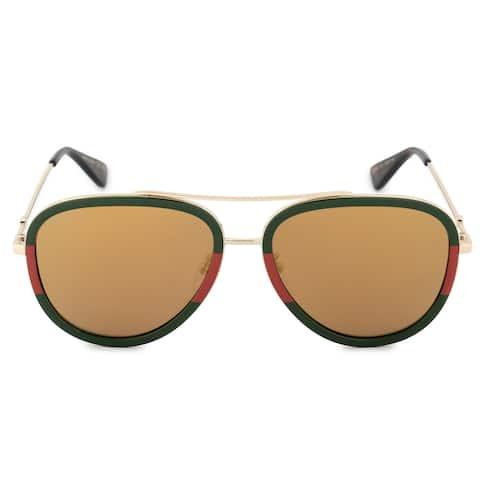 Gucci GG0062S 010 57 Aviator Sunglasses - 57mm x 17mm x 140mm
