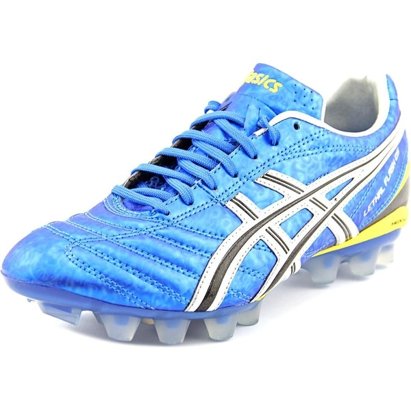 Asics Lethal Flash DS IT Soccer Cleats Men Round Toe Synthetic Blue Cleats