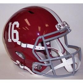 Alabama Crimson Tide #16 Riddell Full Size Deluxe Replica Speed Football Helmet