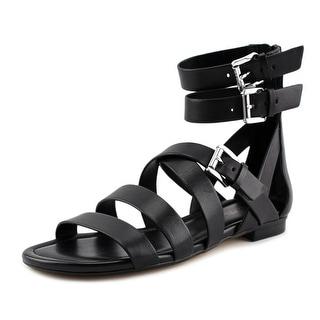 Michael Michael Kors Jocelyn Flat Sandal Women Open Toe Leather Gladiator Sandal