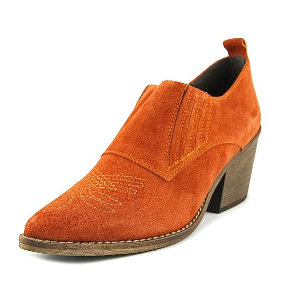 Sixtyseven 78805 Women Pointed Toe Suede Orange Ankle Boot