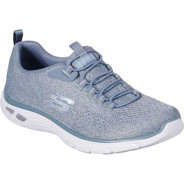 Skechers Women's Relaxed Fit Empire D'Lux Lively Wind Sneaker Blue
