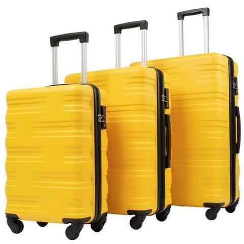 Hardshell Luggage Sets 3 Pcs Spinner Suitcase with TSA Lock