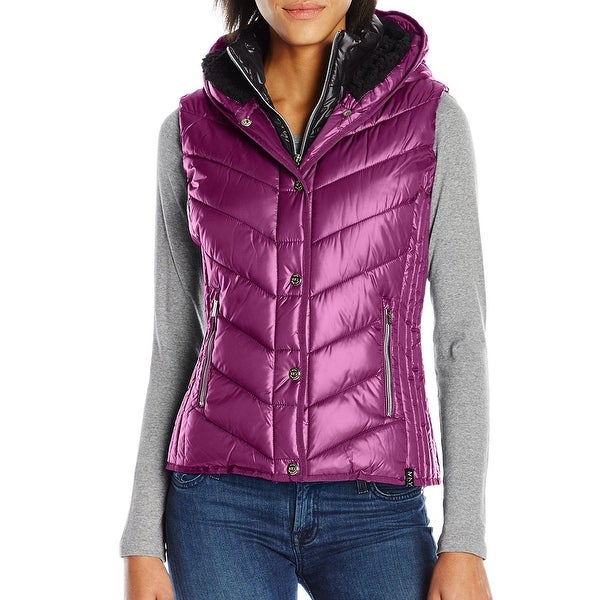229569c8 Marc New York NEW Purple Women's Size Large L Sherpa Hood Vest. Click  to Zoom