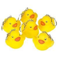 """Rhode Island Novelty 2"""" Rubber Duck Keychain (12 Piece)"""