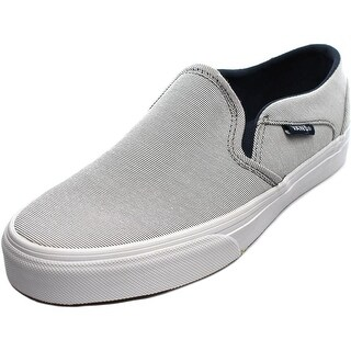 Vans Asher Women Round Toe Canvas White Sneakers