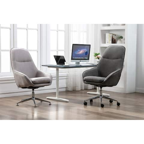 Porthos Home Josie Office Chair, Polyester, Wheels And Floor Footers