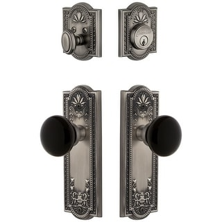 Grandeur PARCOV_SP_ESET_234  Parthenon Solid Brass Rose Single Cylinder Keyed Entry Deadbolt and Knobset Combo Pack with
