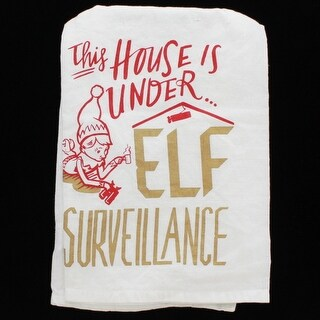 Elf Surveillance Dish Towel