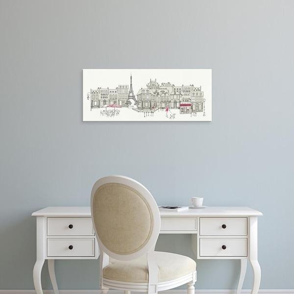 Easy Art Prints 's 'World Cafe II Paris Pink' Premium Canvas Art