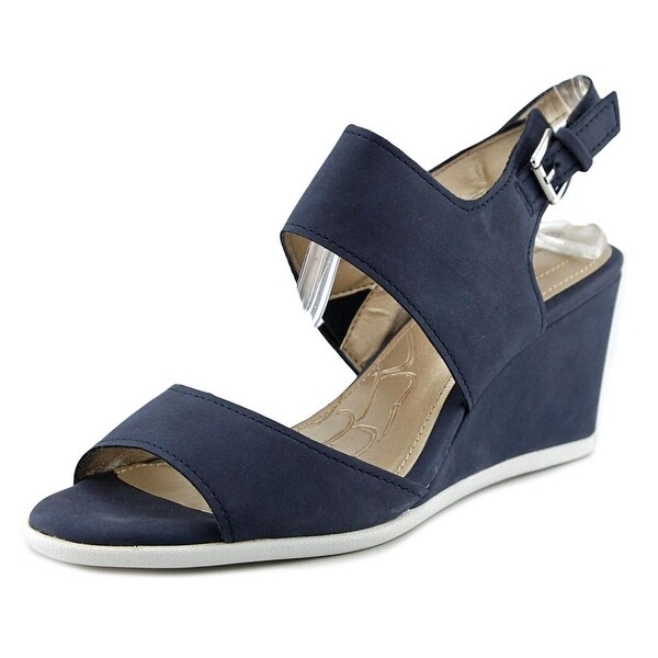 Giani Bernini Lynette Women Open Toe Synthetic Blue Wedge Sandal