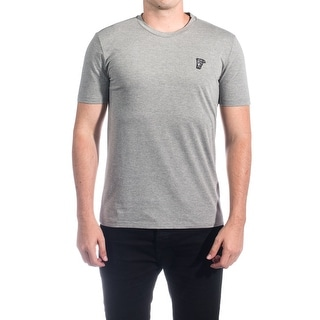 Versace Collection Men's Cotton Medusa Logo Crew Neck T-Shirt Grey