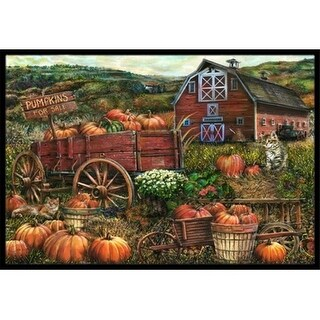 Carolines Treasures PTW2008MAT Pumpkin Patch And Fall Farm Indoor & Outdoor Mat 18 x 27 in.