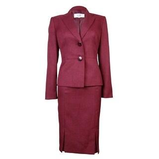 Le Suit Women's Pleated St. Tropez Skirt Suit