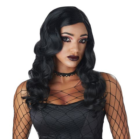 Womens Sultry Siren Sexy Gothic Black Wig - Standard - One Size