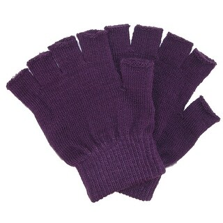 CTM® Kid's Stretch Fingerless Gloves - One size