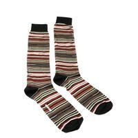 Missoni GM00CMU5234 0001 Olive/Tan Striped Knee Length Socks - L