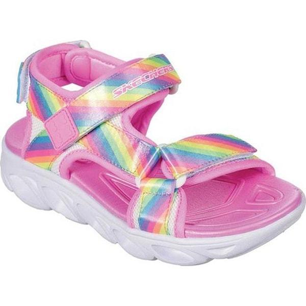 4bd47d5f3 Skechers Girls  x27  S Lights Hypno-Splash Rainbow Lights Sport Sandal Multi