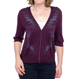 Lafayette 148 New York 3/4 Sleeve Button Down Cardigan Women Regular Sweater