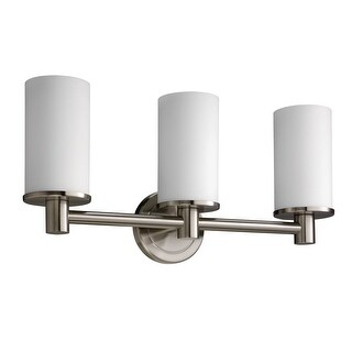 Gatco 1687 Triple Sconce Bath Lighting from the Latitude Collection - satin nickel - n/a
