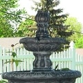 Sunnydaze Two Tier Tulip Solar On Demand Fountain, 36 Inch Tall - Thumbnail 3